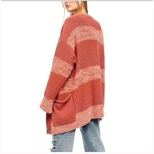 NWT FREE PEOPLE SOUTHPORT OVERSIZED BEACH CARDIGAN
